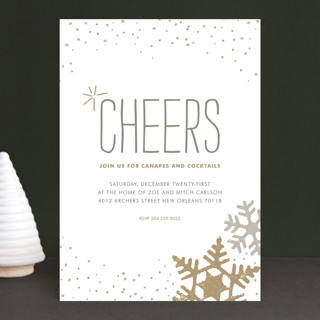 Silver and Gold Holiday Party Invitations