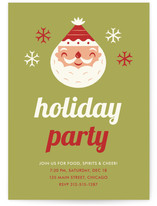 Happy Santa Holiday Party Invitations