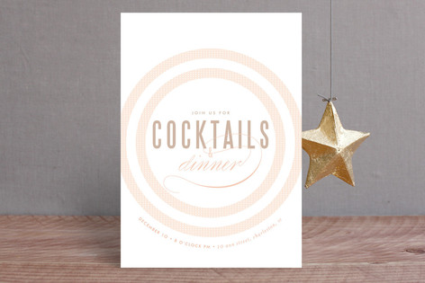 Rose Colored Glass Holiday Party Invitations
