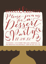 Red Velvet Revelry Holiday Party Invitations