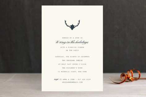 Fireside Feast Holiday Party Invitations
