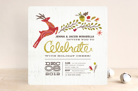 Rustic Celebration Holiday Party Invitations