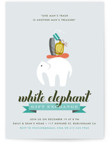 Wonderfully Wacky White Elephant Holiday Party Invitations