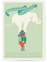 The White Elephant Holiday Party Invitations