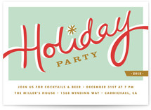 Diner Holiday Party Invitations