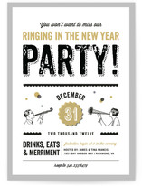 Let's Ring in the New Year Holiday Party Invitations