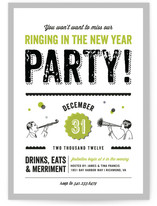 Let&#039;s Ring in the New Year Holiday Party Invitations