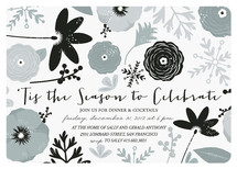 Floral New Year Holiday Party Invitations