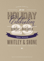 Earthy Corporate Shindig Holiday Party Invitations
