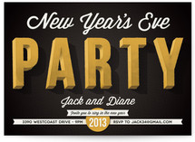 Party on the Eve Holiday Party Invitations