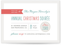 Festive Type Holiday Party Invitations