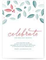 Holly Jolly Holiday Party Invitations