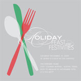 Feast and Festivities Holiday Party Invitations