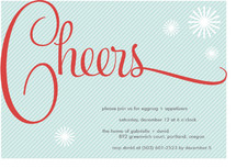 Cheers Holiday Party Invitations by Paper Dahlia