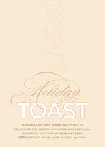 Champagne Toast Holiday Party Invitations