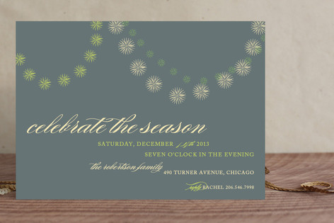 Celebrate the Season Holiday Party Invitations