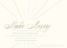 Float + Make Merry Holiday Party Invitations