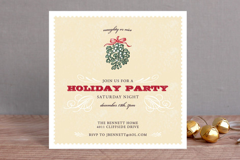 Naughty Or Nice Holiday Party Invitations By Racha Minted