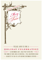 float + merry soiree Holiday Party Invitations