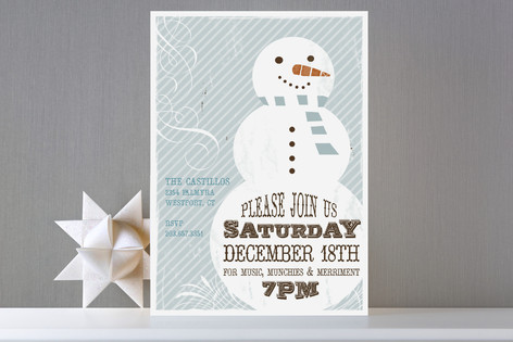 Retro Snowman Invitation