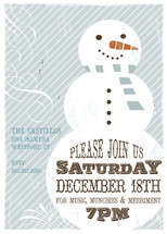 Retro Snowman Holiday Party Invitations