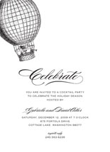 Up Up and Away Holiday Party Invitations
