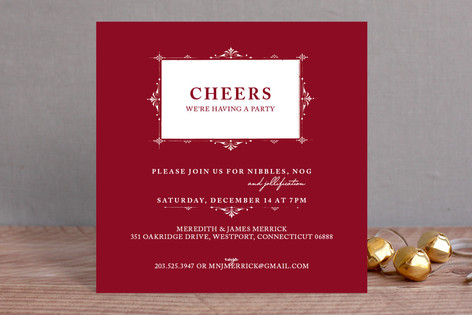 Vintage Frame Holiday Party Invitations