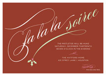 Holly Soiree Holiday Party Invitations by sweet street gals