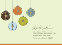 Decorative Ornaments Holiday Party Invitations