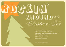 Rockin&#039; Holiday Party Invitations