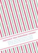 Holiday Stripes Holiday Party Invitations