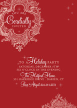 Winter Sparkle Holiday Party Invitations