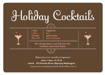 Holiday Cocktails Holiday Party Invitations