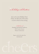 Cheers! Holiday Party Invitations
