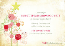 Candy Tree Holiday Party Invitations