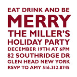 Holiday Block Party Holiday Party Invitations