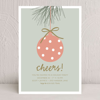 Pine Bough Holiday Party Invitations