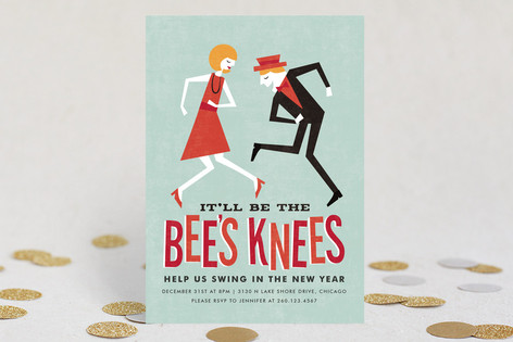 Bee's Knees Holiday Party Invitations