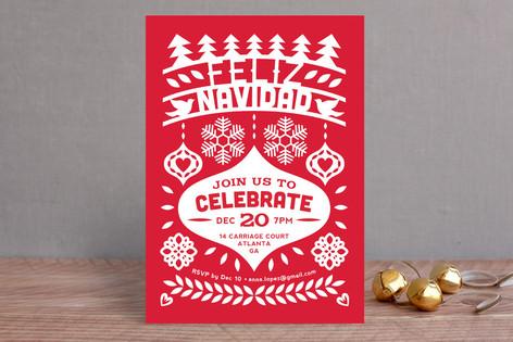 Feliz Navidad Fiesta Banner Holiday Party Invitati Minted