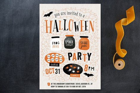 Let's Get Spooky! Holiday Party Invitations