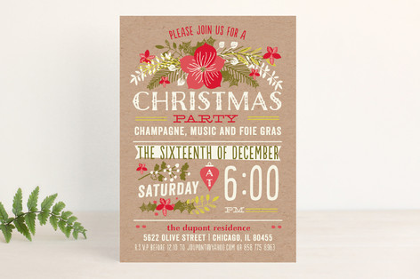 Christmas Party Holiday Party Invitations By Bonjo Minted