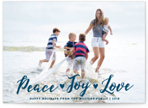 Peace Joy Love Holiday Postcards