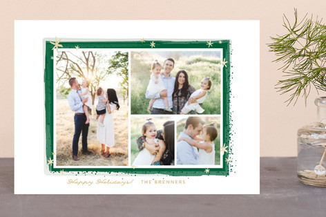 Paint Splash Frame Holiday Postcards