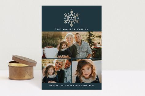 Seasonal Monogram Holiday Postcards