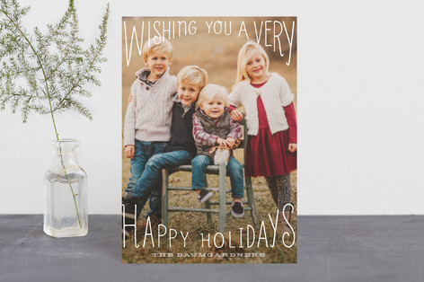 Merry Wishes Overlay Holiday Postcards