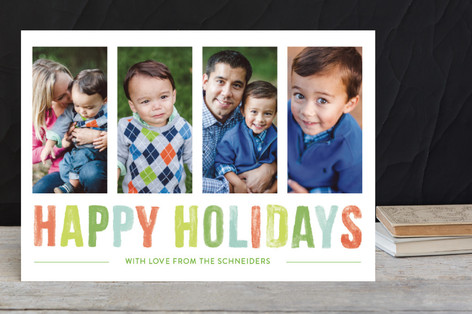 Watercolor Wishes Holiday Postcards