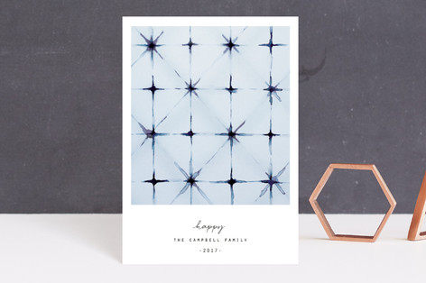 winter shibori Holiday Postcards