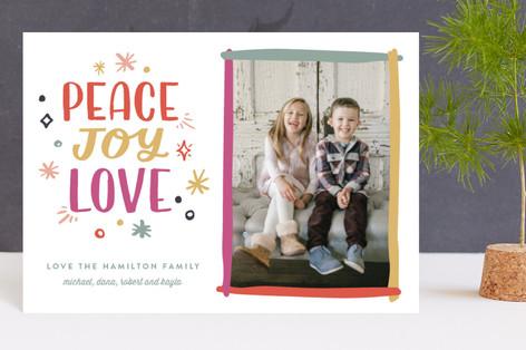 Brushy New Year Holiday Postcards