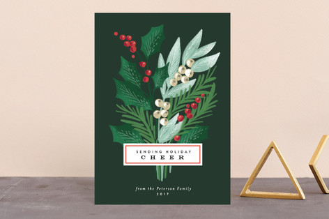 Holiday Pine Bouquet Holiday Postcards
