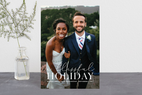 Blissfully Blessed Holiday Postcards